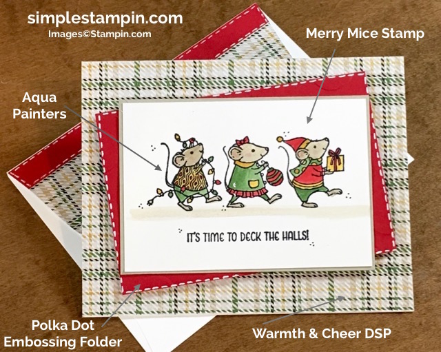 stampin-up-christmas-card-with-merry-mice-warmth-cheer-dsp-polka-dot-embossing-folder-susan-itell-6-simplestampin-com