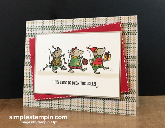 stampin-up-christmas-card-with-merry-mice-warmth-cheer-dsp-polka-dot-embossing-folder-susan-itell-simplestampin-com