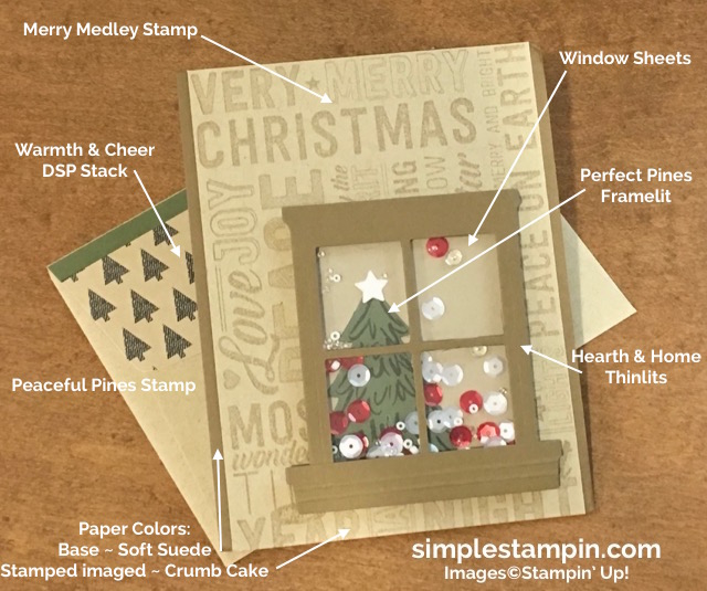 stampin-up-christmas-card-using-the-merry-medley-stamp-peaceful-pines-stamp-perfect-pines-framelits-window-sheets-shaker-card-1-susan-itell-simplestampin-com