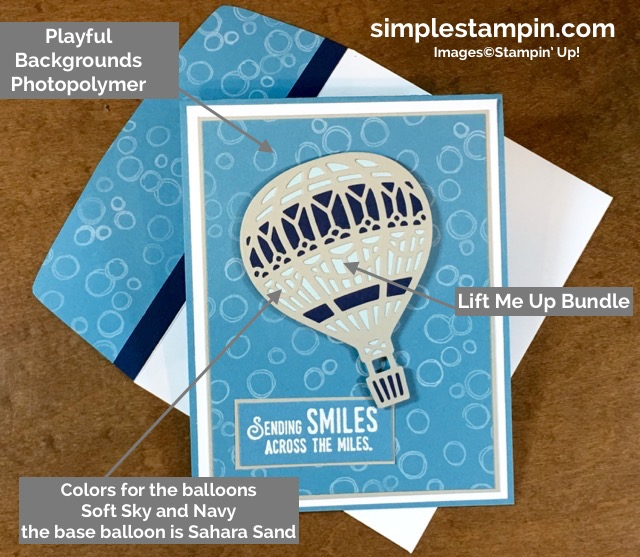 Stampin' Up Lift Me Up! Bundle, Playful Backgrounds Photopolymer Stamp Set, Simple Saturday, Susan Itell - Stampin' Up!