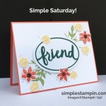 It's time for Simple Saturday!